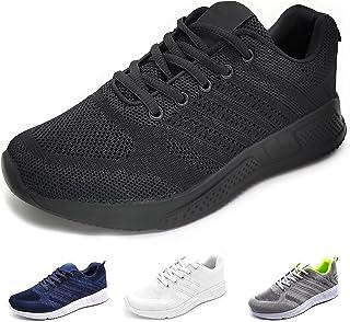 P&L Chaussures de sport légères respirantes avec chambre à air pour course à pied marche travail - Gris - 4 gri