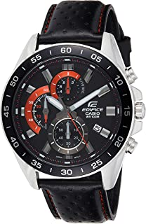 Casio Men's Dial Leather Band Watch - EFV-550L-1AVUEF
