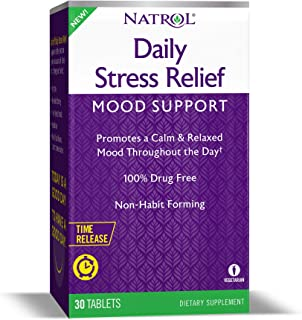 Natrol Daily Stress Relief Mood Support Time Release Tablets, Promotes a Calm & Relaxed Mood, Supports Healthy Serotonin L...