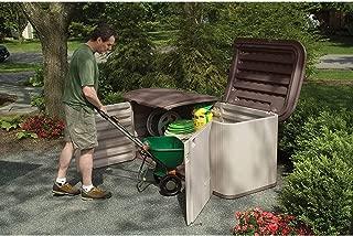 Suncast Multipurpose Resin Storage Shed - Outdoor Storage Shed - Store Outdoor Yard Accessories, Furniture, Toys, Wood - Taupe