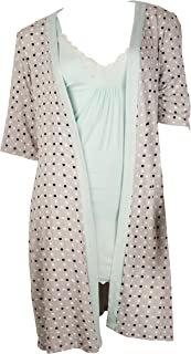 Women's Robe and Cami Nightgown 2 Piece Set - Small to 3XL