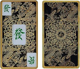 青と白の磁器のクリスタル飛行ドラゴンパターン麻雀ポーカーチップコインフルプラスチックミニ旅行カードセットプラスチックボックス