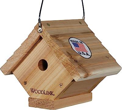 Woodlink Traditional Wren House - Natural Cedar Bird House