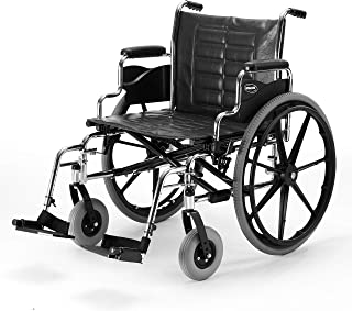 Invacare Tracer IV Wheelchair, with Desk-Length Arms and T93HCP Hemi Footrests with Heel Loops, 20