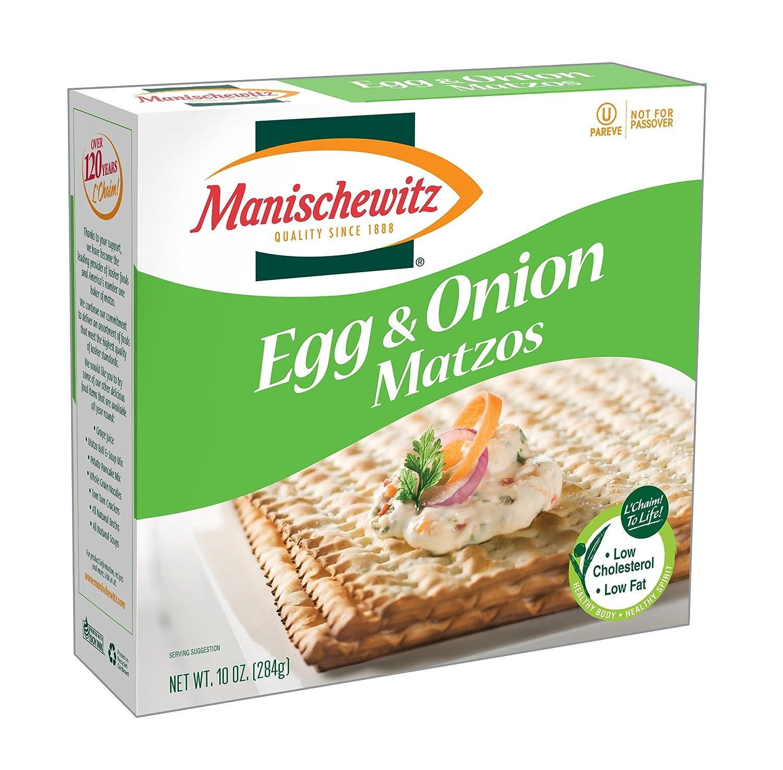 MANISCHEWITZ Egg Regular discount Onion Matzo 10-Ounce Boxes 8 Ranking TOP1 of Pack
