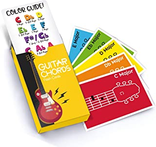 Made With Tone Guitar Chords Flash Cards, a Great Gift for Music Lovers and Beginner