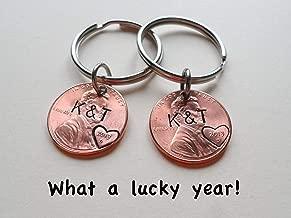 anniversary penny keychain