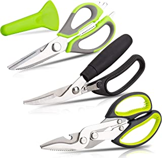 KOTTO 3 Pack Kitchen Scissors SET - Heavy Duty Kitchen Shears - for Chicken, Poultry, Fish and Food Cutting - Rustproof St...