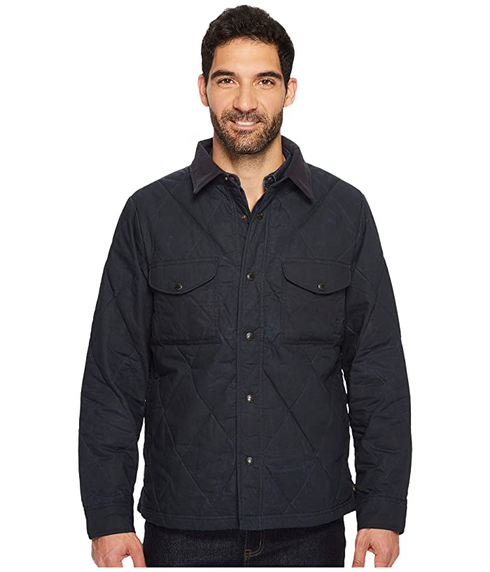 Filson Hyder Quilted Jacket Shirt (Faded Navy) Men