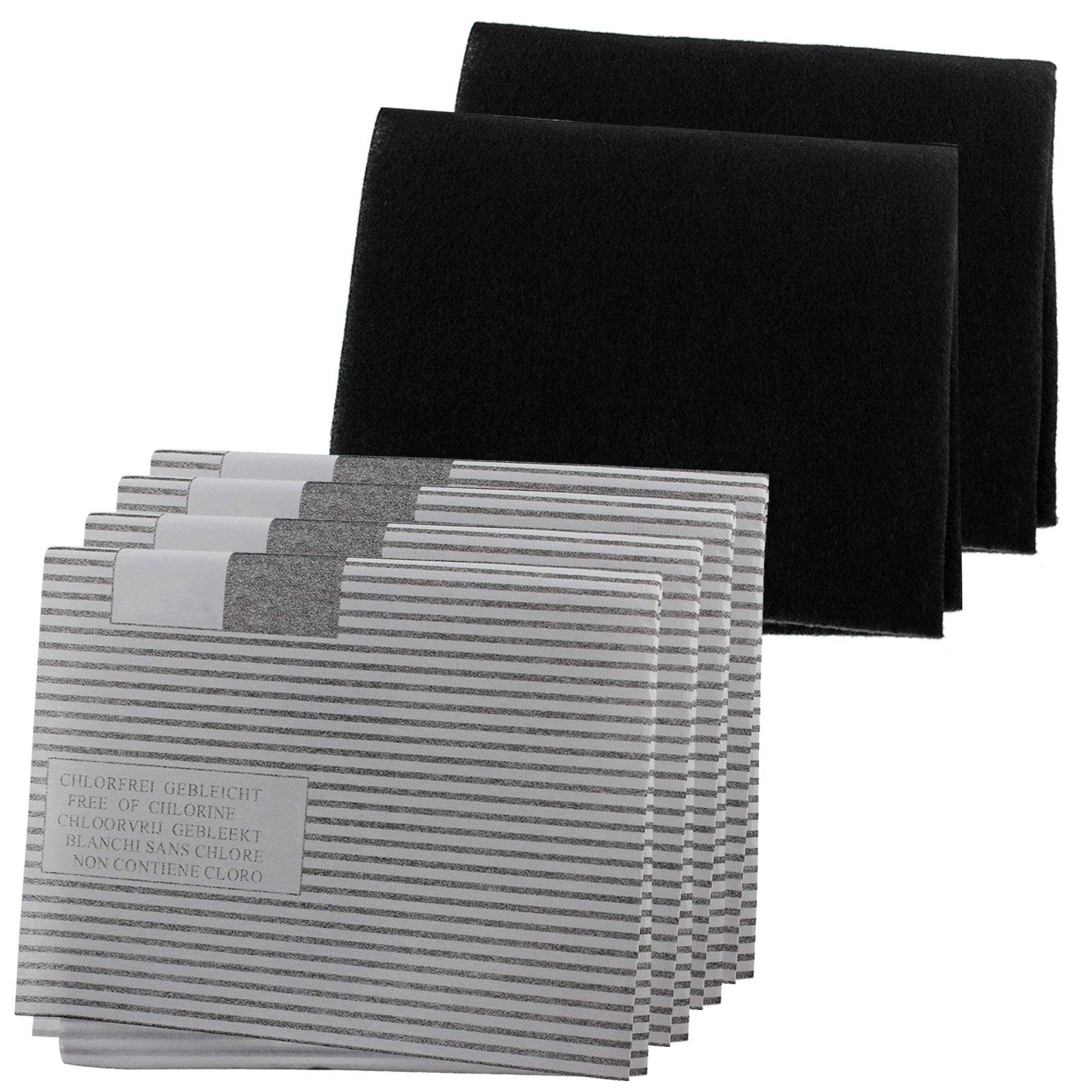 Spares2go Universal Cooker Hood Grease Filter Kit For Extractor Fan Vent 2 Packs Of 2 Filters Cut to size