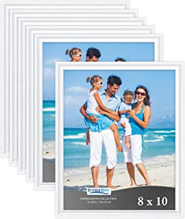 Icona Bay 8x10 Picture Frames (6 Pack), White Frame Set, Photo Frames for Wall or Table Top, Photo Frame 8x10 Set, Inspira...