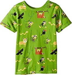 4Ward Clothing - PBS KIDS® - Rainforest Pattern Reversible Tee (Toddler/Little Kids)
