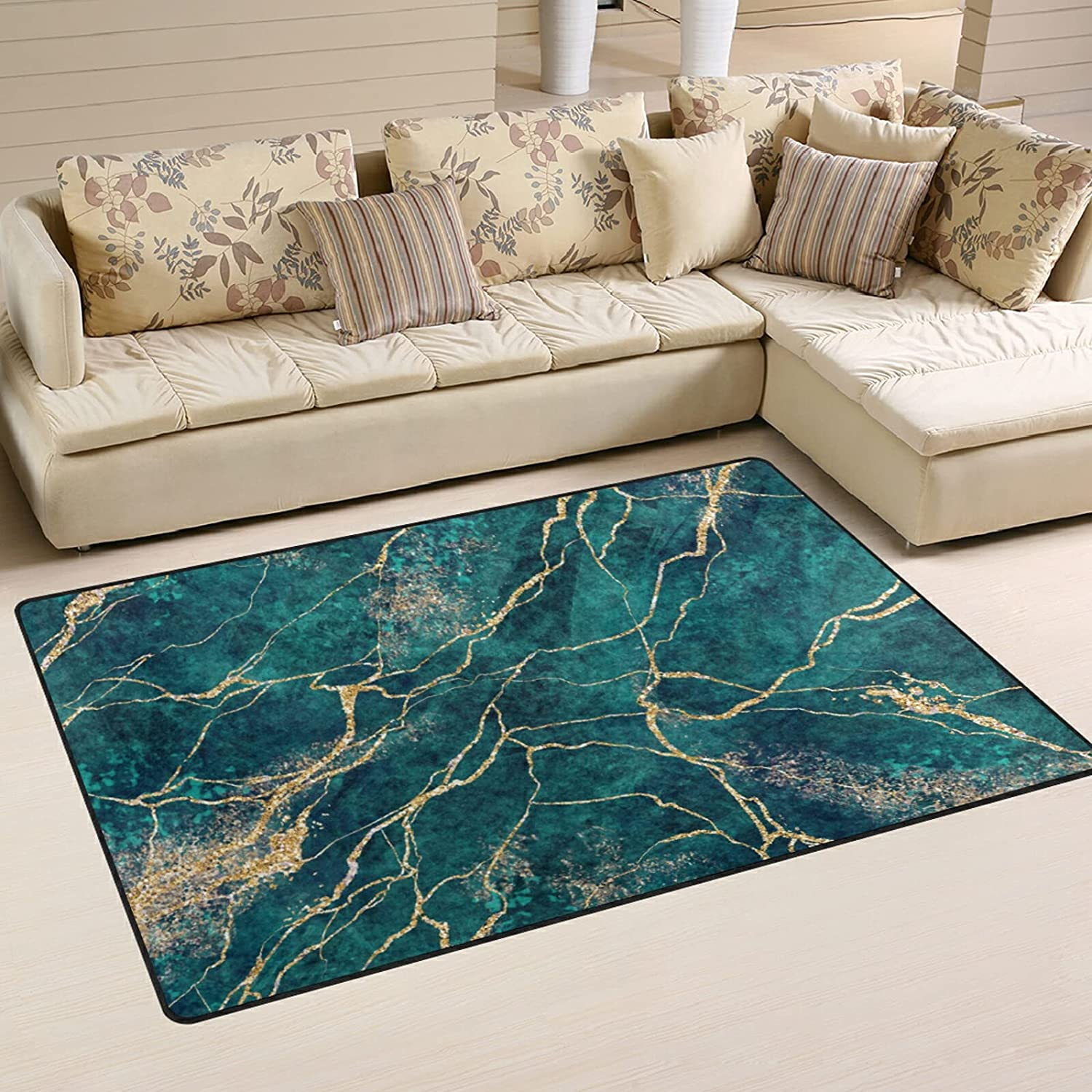 Gold Green Marble Nashville-Davidson Mall Large Soft Area Mat Nursery Playmat Rug f Our shop most popular Rugs