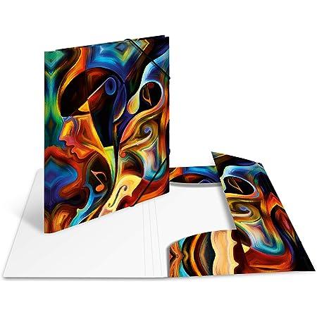 HERMA 19857 Carpeta de dibujo Artline con motivo Obra de arte, A3, plástico resistente, con impresión interior, carpeta de 1 palmo