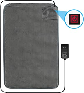 """Fitfirst Low Voltage Heating Pad for Back Pain, Deep Heat Therapy Wrap with Fast Heating Technology, 3 Heat Settings, Ultra Soft, Machine Washable, Auto Off, for Back Neck Shoulder -16""""x 24"""""""