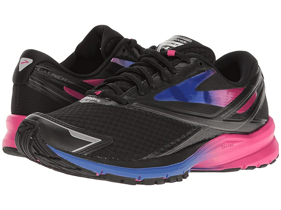 Brooks Launch 4 (Black/Fuchsia Purple/Dazzling Blue) Women