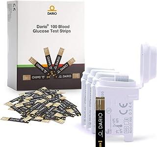 100 نوار تست قند خون داریو برای سیستم مانیتورینگ قند خون Dario و Dario LC. عالی برای پیگیری سطح قند خون برای دیابتی ها