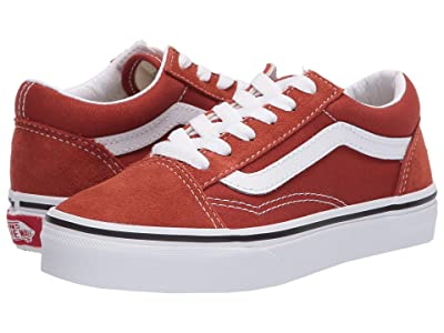 Vans Kids Old Skool (Little Kid) (Picante/True White) Kids Shoes
