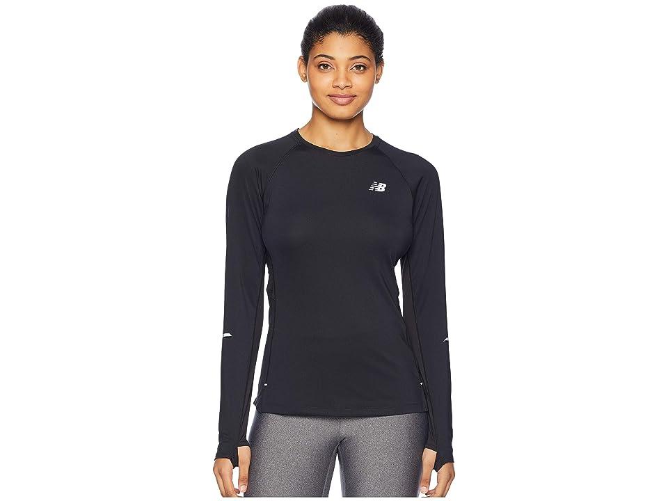 New Balance NB Ice 2.0 Long Sleeve Top (Black) Women