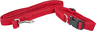 Pet Life ® 'Aero Mesh' 2-In-1 Dual Sided Comfortable And Breathable Adjustable Mesh Dog Leash-Collar, Small, Red