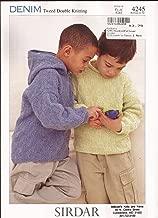 Sirdar Denim Tweed DK Knitting Pattern 4245 Hoodie & Sweater Children 1yr-12 yrs