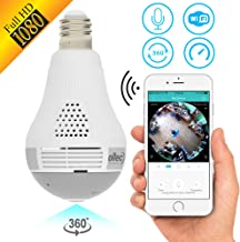 Light Camera Security 1080p WiFi Wireless Smart spy Bulb Camera Home Security..