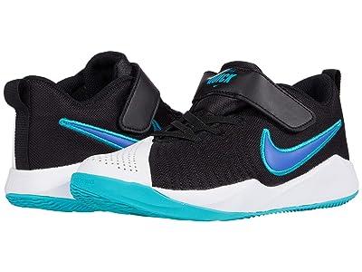 Nike Kids Team Hustle Quick 2 (Little Kid) (Black/Hyper Blue/Oracle Aqua/White) Kids Shoes