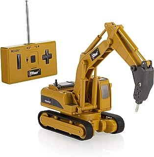 Top Race 4 Channel Mini Remote Control Drill Excavator 1:64 Scale, Mini Construction Toys Series (TR-018)