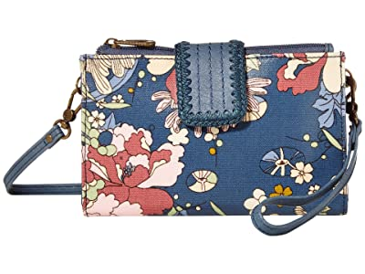 Sakroots Olympic Smartphone Crossbody (Denim Flower Power) Handbags
