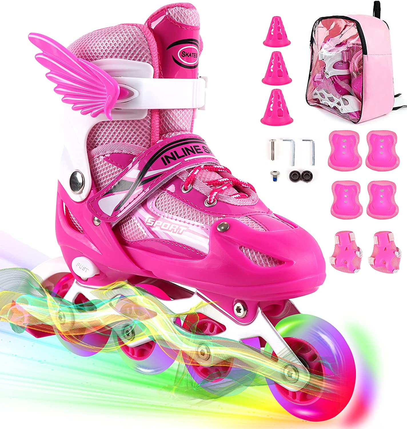Direct store Sales of SALE items from new works ZALALOVA Kids Adjustable Inline Skates Roller and Durable Safe