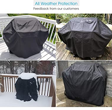 Unicook Heavy Duty Waterproof Barbecue Gas Grill Cover, 55-inch BBQ Cover, Special Fade and UV Resistant Material, Durable an