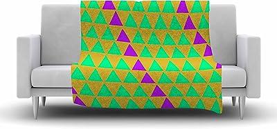 Kess InHouse Louise Machado Arrow Magenta Art Deco Throw 40 x 30 Fleece Blanket
