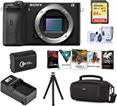 $1198 » Sony Alpha a6600 Mirrorless Digital Camera Body Bundle with Bag, Extra Battery, Charger, 64GB SD Card, Tripod, Corel PC Software Pack, Cleaning Kit