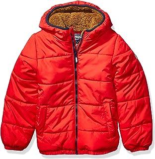 Boys' Heavyweight Winter Jacket with Sherpa Lining