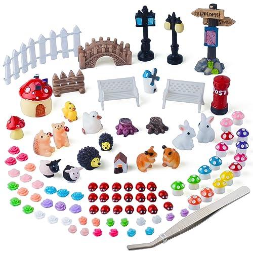 Miniature Dollhouse FAIRY GARDEN Leah Accessories