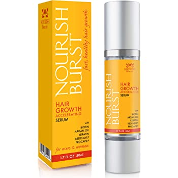 Nourish Beaute Hair Regrowth Treatment Serum for Hair Loss that Promotes Hair Regrowth, Volume and Thickening with Caffeine, For Men and Women, 1 Pack 1.7 Ounces