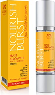 Nourish Beaute Hair Regrowth Treatment - Hair Loss Serum With Stem-Cell Technology, DHT Blockers and Caffeine To Stop Thinning Hair Fast, Hair Regrowth Product For Men and Women