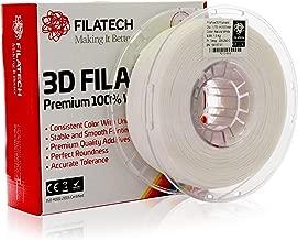 Filatech 3D Printing FilaFlex55 Filament, 1.75 mm +/- 0.03 mm, 1.0 Kg Spool, 100% Virgin Material, Made in UAE Natural White Fu120