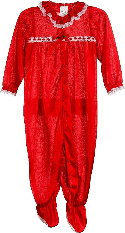 Laura Dare Baby Girls Long Sleeve Infant Jumpsuit PJ, (3m-24m)