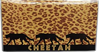 Cheetah Checkbook Cover with Register and Photo Wallet Insert for Debit Credit Cards