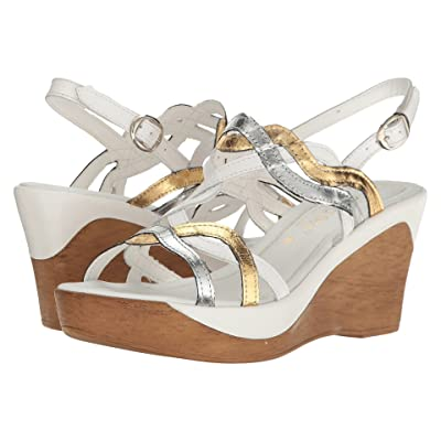 David Tate Alto (White Multi Leather) Women