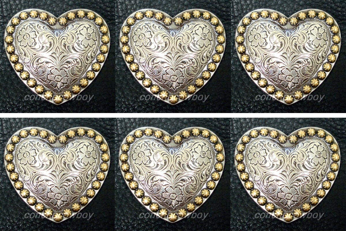 Conchos Leathercraft Accessories Elegant Set of ANT Horse 6 Western TACK quality assurance