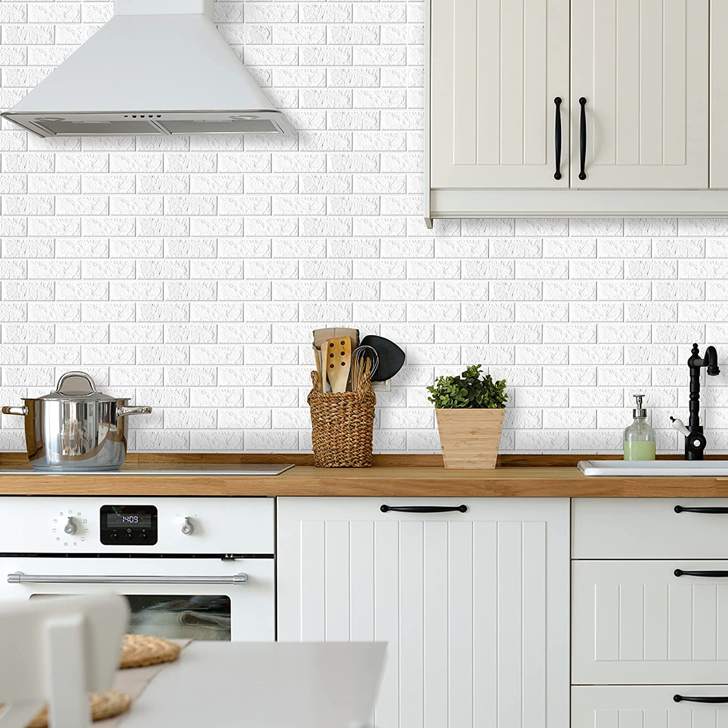 Buy Mecpar White 3d Brick Wall Panels 10 Pack Faux Brick Panels Peel And Stick Self Adhesive Waterproof Pe Foam Tile Wallpaper For Living Room Bedroom Background Kitchen Wall Decoration Cover 58sq Ft Online In