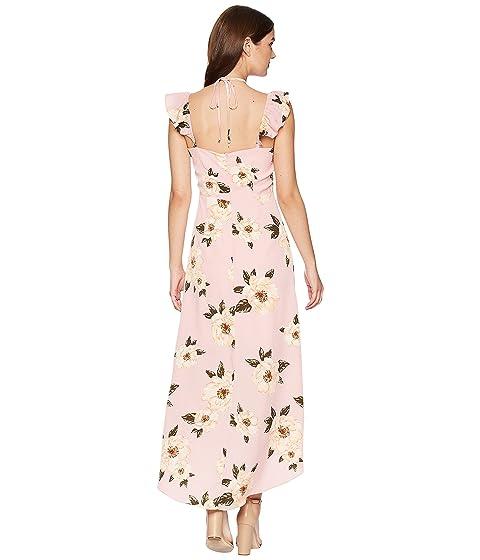 alto J floral rosa Vestido superpuesto largo O A bajo wXqXB1CP