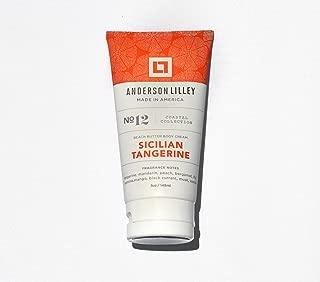 ANDERSON LILLEY Sicilian Tangerine Beach Butter Body Cream, Orange, 5 Ounce