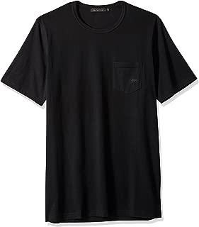 Bugatchi Men's Modern Trim Fit Short Sleeve Solid Crew Neck Shirt