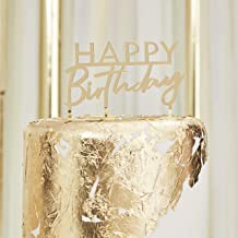 Ginger Ray Gold Acrylic Happy Birthday Cake Topper, Mix it Up