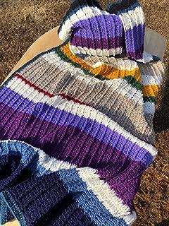 Multi Color Handmade Afghan Throw