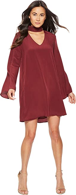 Brin Long Sleeve Keyhole Dress