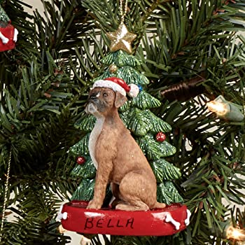 BOXER UnCropped Dog Soldier NUTCRACKER Holiday ORNAMENT
